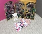 5-LITTLEHEAD-HS-29)  5 inch Lil Cutesies Little Head  Berenguer baby doll clothes, 1 flannel hooded sleeper