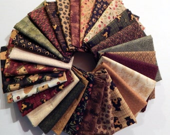 NEW Bear Paws Quilt Craft Fabric Bundle of 28 Fat Quarters - The Full Line