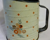 SALE Vintage Sifter Mid Century Flour Sifter Shabby Chic