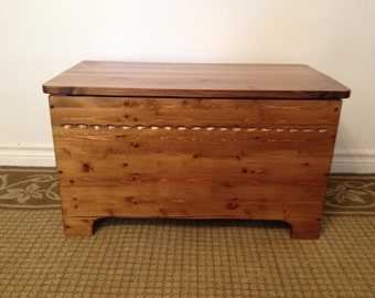 Sunset Chest, storage chest, blanket chest, coffee table, bench