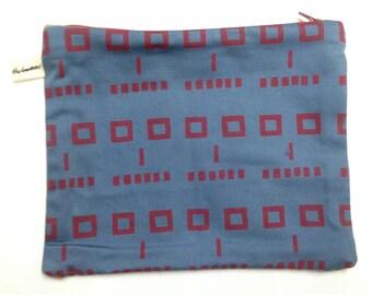 Face Pattern Cotton Purse Pouch