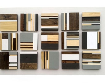 Wood Wall Art - Wood Sculpture - Home Decor - Abstract Wall Art - Wood Art - Abstract Painting