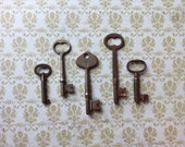 Vintage Skeleton Keys - Lot 4 - Qty 5 - FREE SHIPPING U.S.