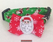 Be Jolly By Golly Santa Dog Collar Size XS through Large by Doogie Couture