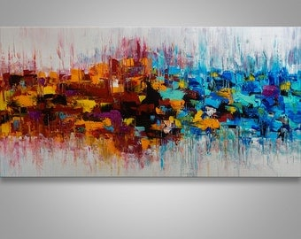Abstract Painting, Palette Knife Painting, Abstract Wall Art, Modern Painting, Art, Wall decor, Wall Art, Canvas Art, Acrylic, Catalin Art