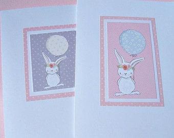 Kids Birthday Cards, Baby Card, Baby Shower Cards, New Baby Cards, Balloon Cards, Bunny Cards -  pbc2