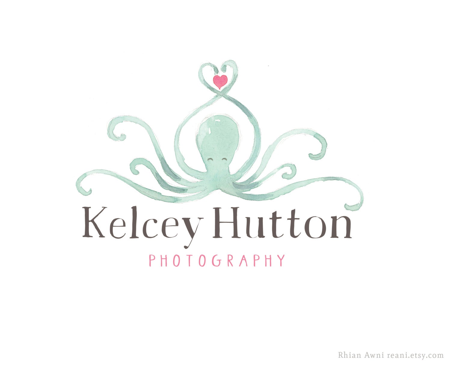 Watercolor Logo with Branding Watermark Business Card