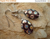 25%OFF Purple and Silver Bead Earring Set (717)