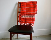 SOLD sold sold Reserved Item Vintage Mid Century Hand Woven Tablecloth Embroidered Folk Romanian Mexican
