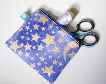 Glitter Stars Mini Zipper Pouch
