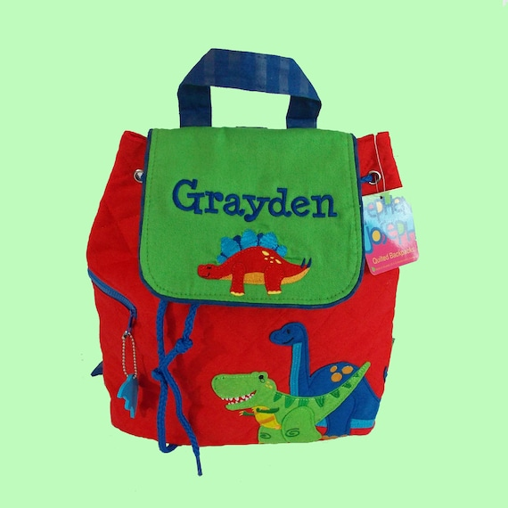 Personalized Child's Stephen Joseph Quilted DINO Themed  Backpack-Monogrammiong Is Included