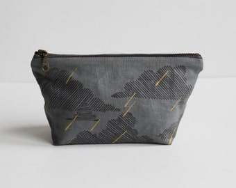 SALE 20% OFF - Small Traveler Pouch - Rainy Day