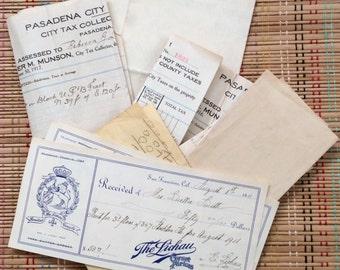 Vintage Receipts--Retail Ephemera Lot