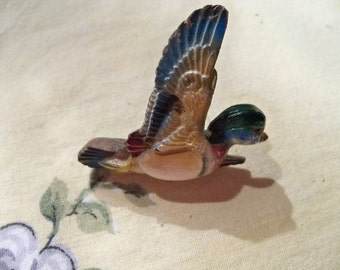 adorable old mallard duck  pin