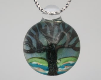 Glass Pendant - Tree Of Life - Hand blown Glass Lampwork Pendant