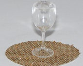 """Choose from 4, 6 or 8 Barbie Size Wine Glasses - 1 3/8"""" Tall - Plastic, 1:6, Miniature, NOT DOLLHOUSE SIZE"""