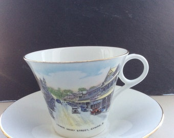 Shelley England Abdy Brothers souvenir teacup and saucer #781613