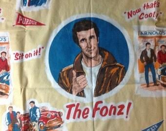 Vintage  The Fonz Happy  Days twin size     bedspread