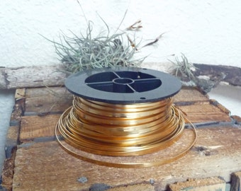 "Brass Bezel Wire 3, 5 and 10 Feet x 1/8"" High 28g FREE SHIPPING"