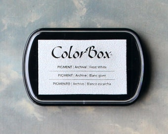 White Stamp Pad (Frost White) // Pigment Ink Pad // ColorBox