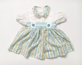 Vintage floral baby girls dress