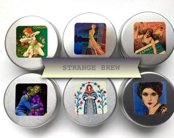Knitting Tin  (just the tin) - STRANGE BREW