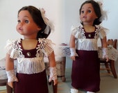 Doll Clothes - French Evening Doll Gown, Headpiece, Gloves and Shoes - 18 Inch Doll Clothes Shown on Sophia Doll, Shoes - 1062