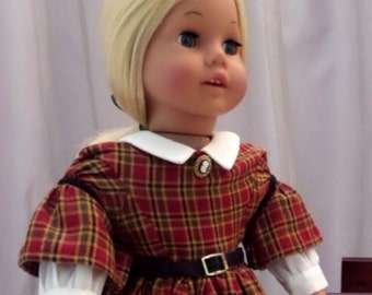 18 Inch Doll Clothes / Victorian Doll Dress And Black Petticoat / Doll Clothes / Doll Clothing / Doll Accessories / American Girl Doll -1035