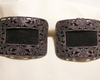 Lovely Rare Vintage steel cut shoe clips In great condition