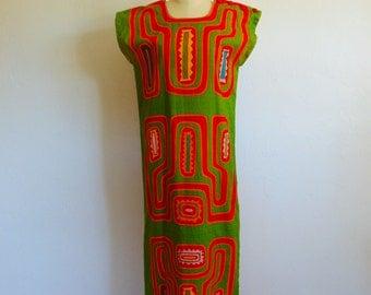 60s MOLA style caftan shift dress size small