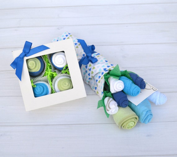 Boy Baby Shower Gift, Baby Gift Set, Baby Gift Basket, Newborn Gift, Unique Baby Gift, Baby Cupcakes, Baby Bouquet, Baby Gift Ideas
