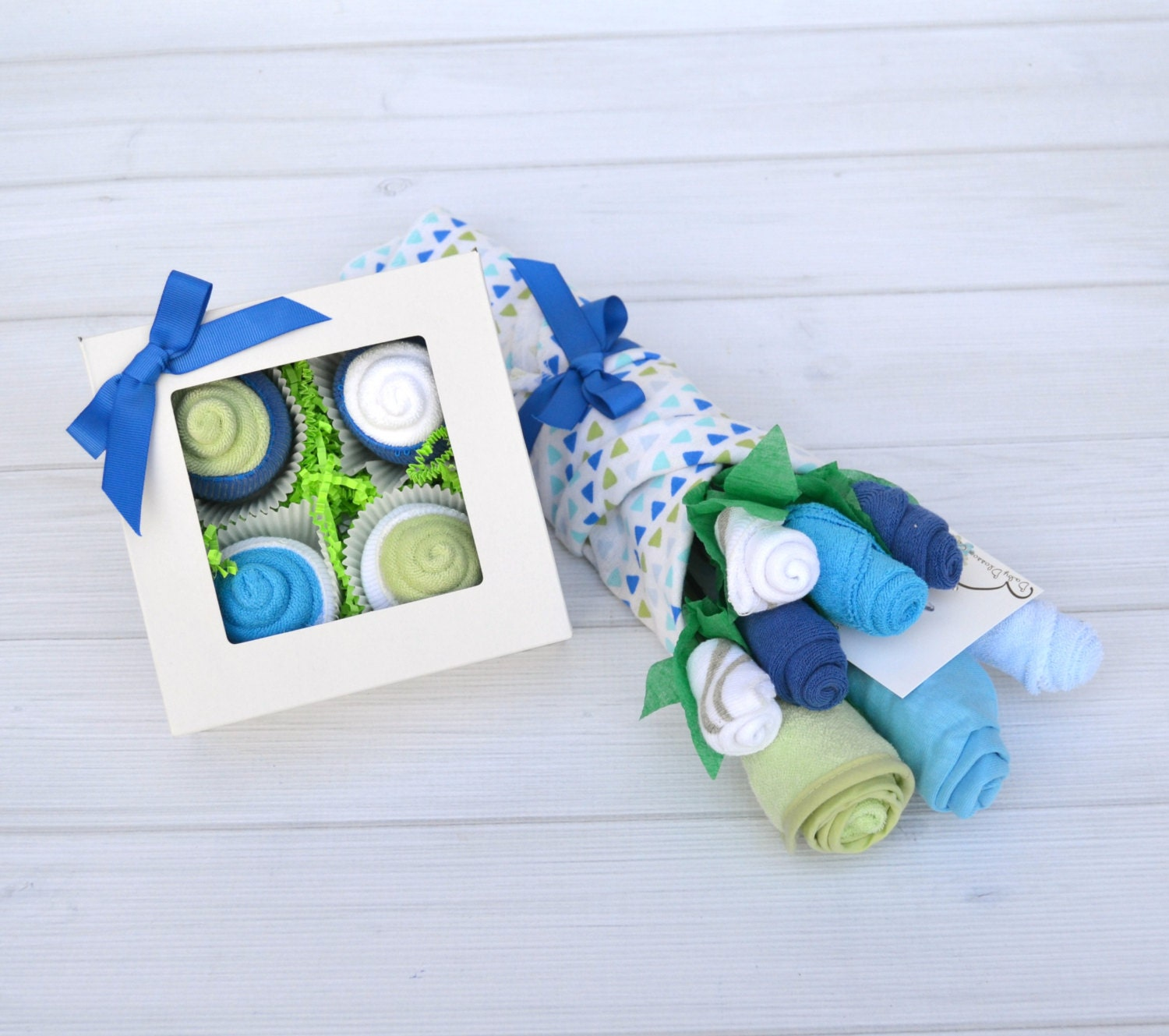 Unusual New Baby Gift Ideas : Boy baby shower gift set basket