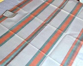Vintage Kitchen Dish Towels - Melon Stripe Linen - 3 NOS