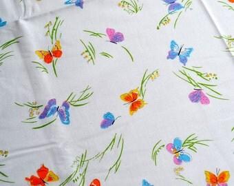 Vintage Vera Tablecloth - Flights of Fancy Butterflies - NOS 60 x 84