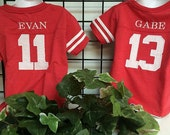 GreatStitch Football Jersey Tshirt 1st or 2nd Birthday Boy Birthday