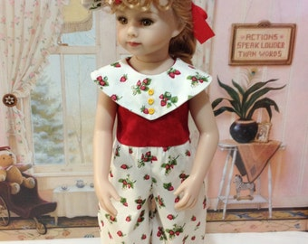 "On sal this week  Maru and Friends ""Strawberries and Cream"" Romper and hat fits the Maru and Friends 20 inch doll by Diane Effner"