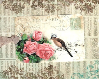 Tags, Bird Gift Tags, Bird Lover, Roses, Bird Tags, For You