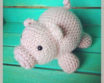 Crocheted Piglet Doll