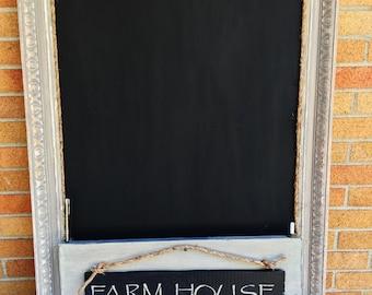 Farmhouse Kitchen Chalkboard Organizer