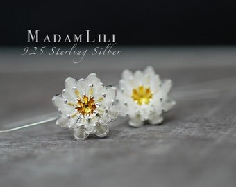 "925er Silver Earrings ""LOTUS"""