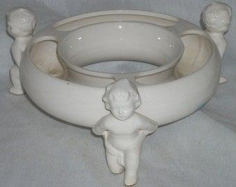 Porcelain Cherub Ring Planter