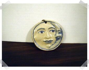 Ceramic Moon Ornament/handmade/Home Decor*