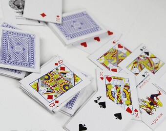 Mini Poker Playing Cards - key ring - For 1/3 1/4 BJD Doll