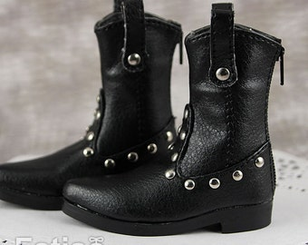 Fatiao - New 1/4 BJD dollfie MSD Cool Dolls Boots Shoes Black