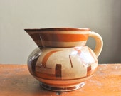Antique Japanese Water Pitcher 1940s Vintage Ceramics