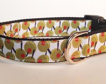 Martini Olives Dog Collar