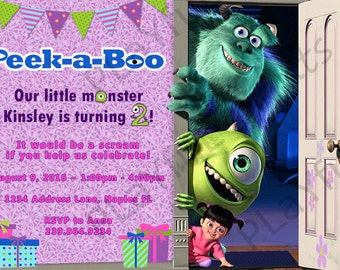 Monster's Inc Birthday Invitation