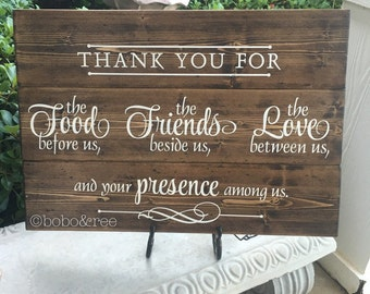 Handpainted Wooden Sign / Dining Room / Kitchen / Thank You For The Food