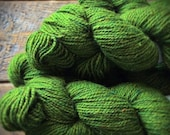 Yarn sale Bright spring green worsted wool yarn - green yarn - Peace Fleece yarn - Shaba Green - knitting yarn shop