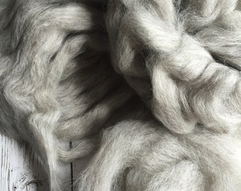 Icelandic lamb grey Spin Felt Roving - Alma Park Exclusive 2 oz - grey gray